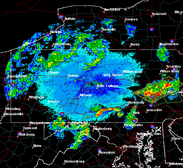 Radar Image for Severe Thunderstorms near Hometown, PA at 5/19/2019 11:07 PM EDT