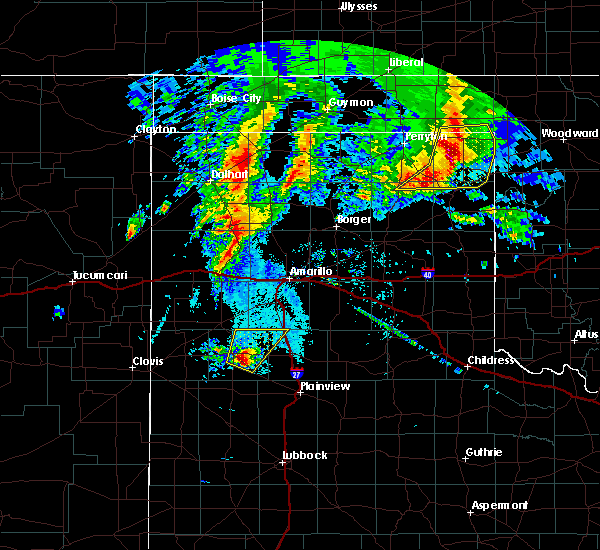 Radar Image for Severe Thunderstorms near Hart, TX at 5/20/2019 7:20 AM CDT