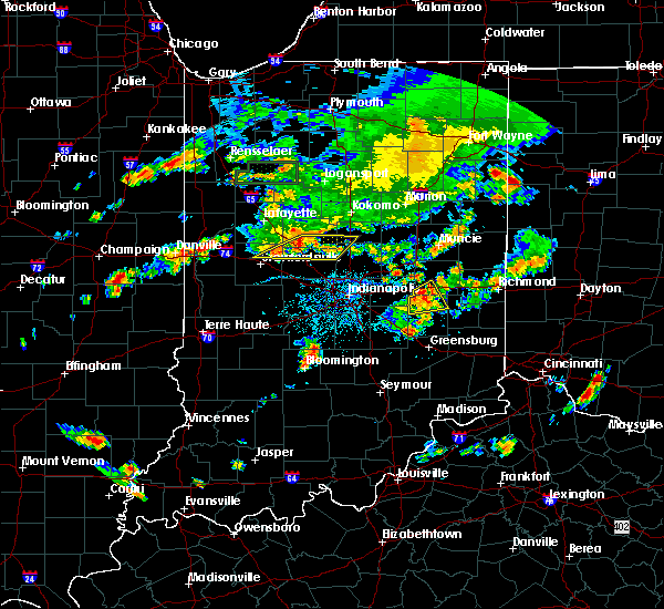 Radar Image for Severe Thunderstorms near New Castle, IN at 6/12/2015 6:54 PM EDT