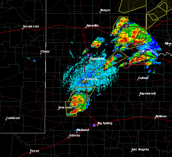 Radar Image for Severe Thunderstorms near Floydada, TX at 5/20/2019 3:29 PM CDT