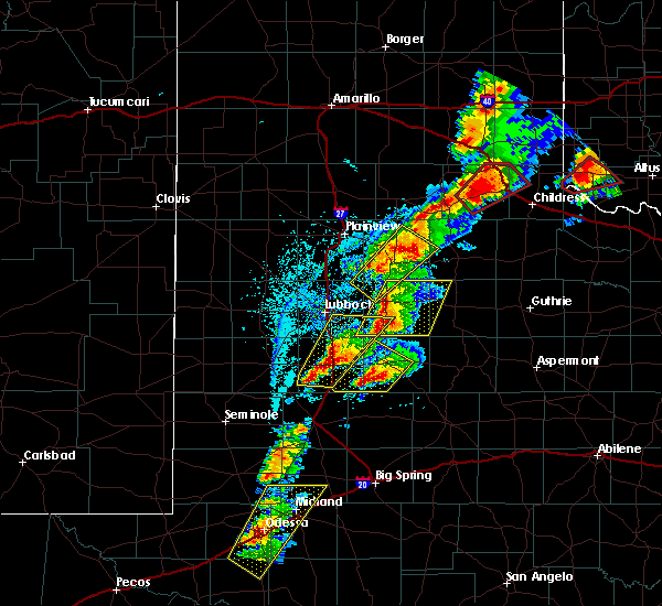Radar Image for Severe Thunderstorms near Post, TX at 5/20/2019 4:48 PM CDT