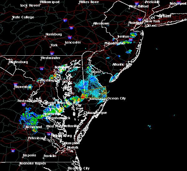 Radar Image for Severe Thunderstorms near Laurel, DE at 5/20/2019 6:00 PM EDT