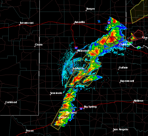 Radar Image for Severe Thunderstorms near Post, TX at 5/20/2019 5:04 PM CDT