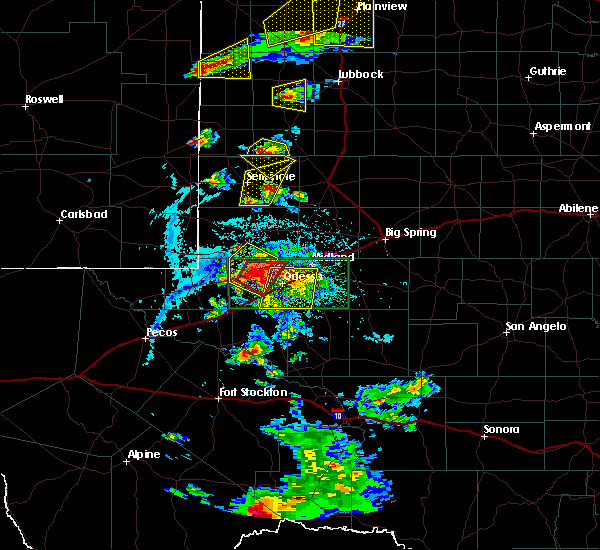Radar Image for Severe Thunderstorms near Gardendale, TX at 6/12/2015 6:04 PM CDT