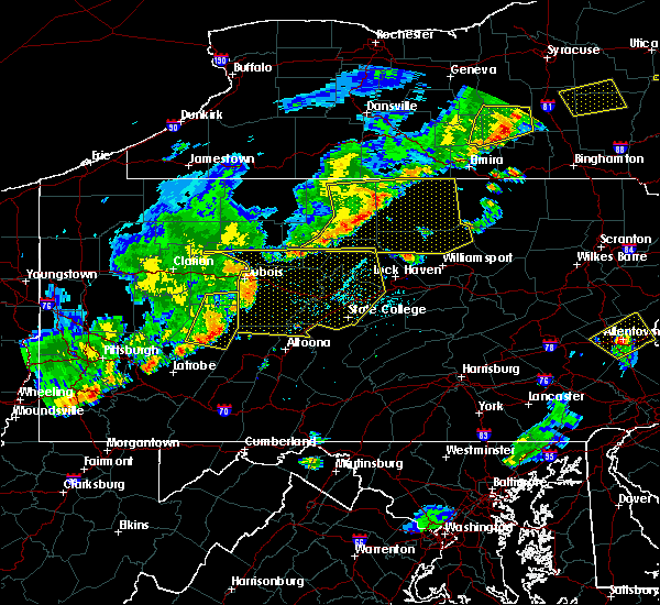 Radar Image for Severe Thunderstorms near Duncansville, PA at 6/12/2015 7:05 PM EDT