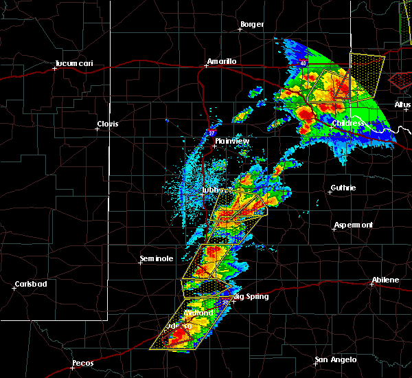 Radar Image for Severe Thunderstorms near Post, TX at 5/20/2019 5:47 PM CDT