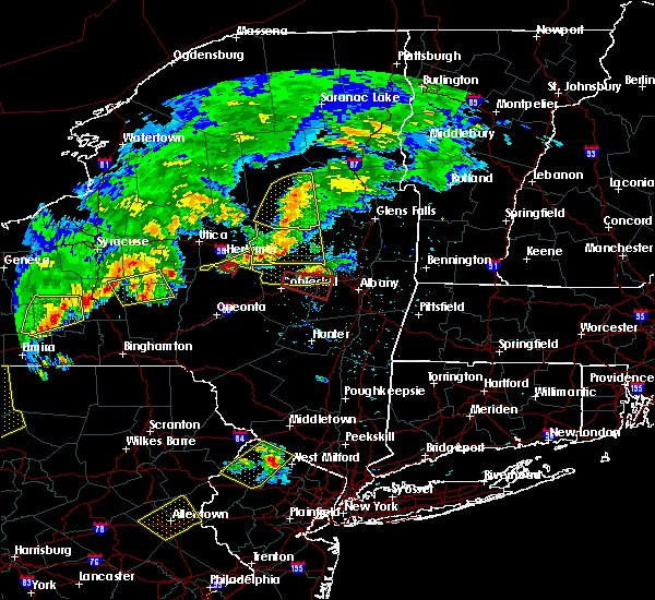 Radar Image for Severe Thunderstorms near Altamont, NY at 6/12/2015 7:12 PM EDT