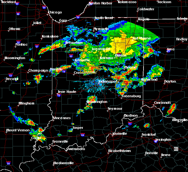 Radar Image for Severe Thunderstorms near New Castle, IN at 6/12/2015 7:13 PM EDT
