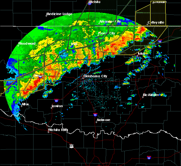 Radar Image for Severe Thunderstorms near Morrison, OK at 5/20/2019 7:23 PM CDT