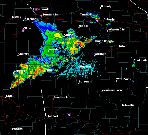 Radar Image for Severe Thunderstorms near Laurie, MO at 6/12/2015 6:19 PM CDT