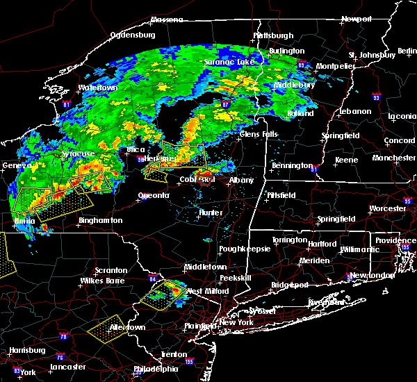 Radar Image for Severe Thunderstorms near Cohoes, NY at 6/12/2015 7:20 PM EDT