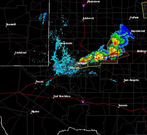 Radar Image for Severe Thunderstorms near Stanton, TX at 5/20/2019 8:49 PM CDT