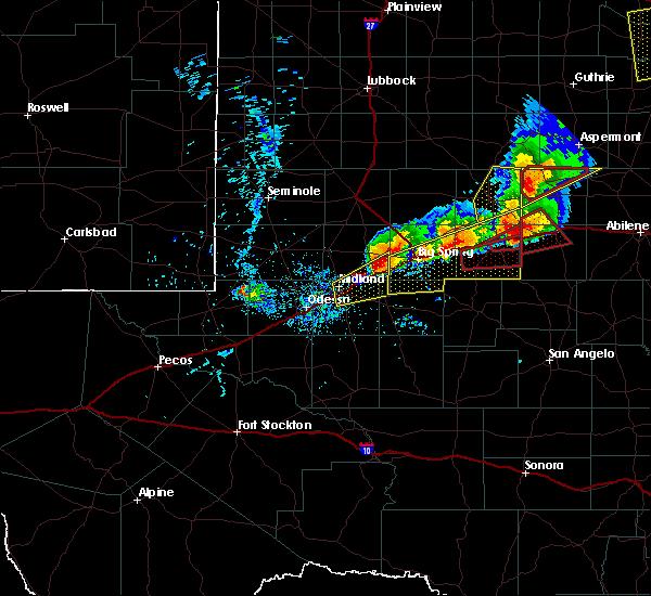 Radar Image for Severe Thunderstorms near Stanton, TX at 5/20/2019 9:01 PM CDT