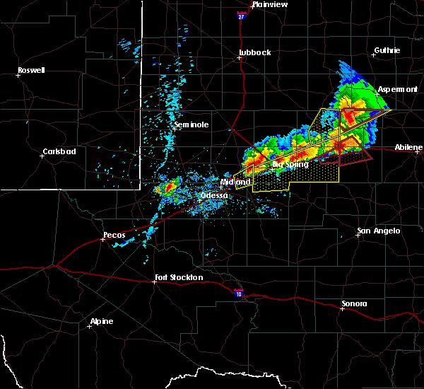 Radar Image for Severe Thunderstorms near Stanton, TX at 5/20/2019 9:05 PM CDT