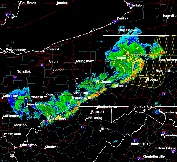 Radar Image for Severe Thunderstorms near Enterprise, WV at 6/12/2015 7:21 PM EDT