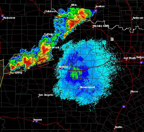 Radar Image for Severe Thunderstorms near Aspermont, TX at 5/20/2019 9:39 PM CDT