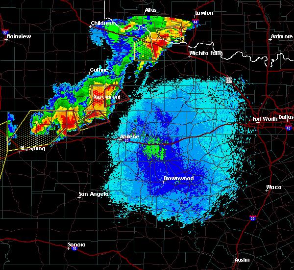 Radar Image for Severe Thunderstorms near Hamlin, TX at 5/20/2019 9:54 PM CDT