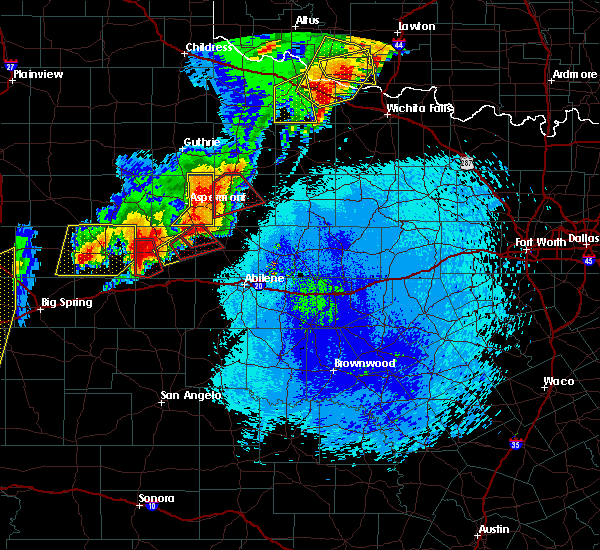Radar Image for Severe Thunderstorms near Hamlin, TX at 5/20/2019 10:02 PM CDT