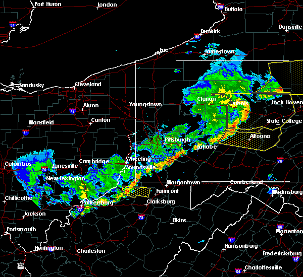 Radar Image for Severe Thunderstorms near Brownsville, PA at 6/12/2015 7:26 PM EDT
