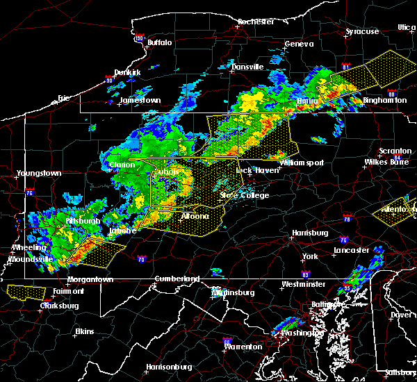 Radar Image for Severe Thunderstorms near Hawk Run, PA at 6/12/2015 7:35 PM EDT