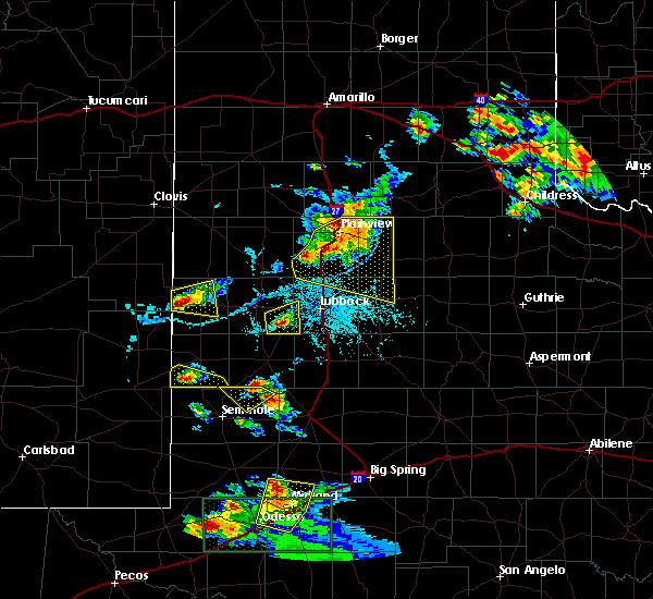 Radar Image for Severe Thunderstorms near Denver City, TX at 6/12/2015 6:35 PM CDT