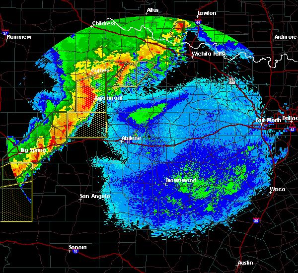Radar Image for Severe Thunderstorms near Aspermont, TX at 5/21/2019 12:04 AM CDT