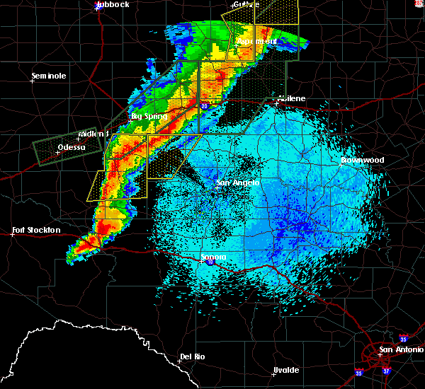 Radar Image for Severe Thunderstorms near Sterling City, TX at 5/21/2019 12:30 AM CDT