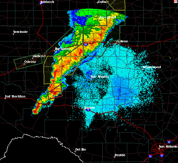 Radar Image for Severe Thunderstorms near Sterling City, TX at 5/21/2019 12:57 AM CDT