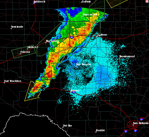 Radar Image for Severe Thunderstorms near Iraan, TX at 5/21/2019 1:10 AM CDT