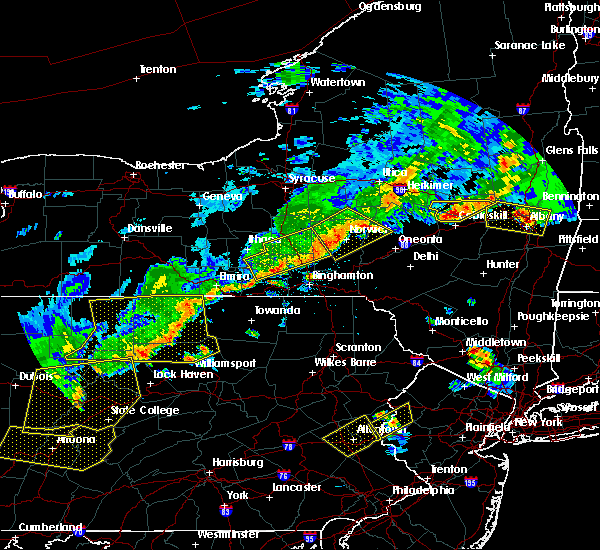 Radar Image for Severe Thunderstorms near Waverly, NY at 6/12/2015 7:44 PM EDT
