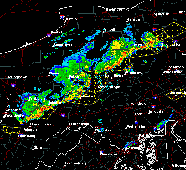 Radar Image for Severe Thunderstorms near State College, PA at 6/12/2015 7:45 PM EDT