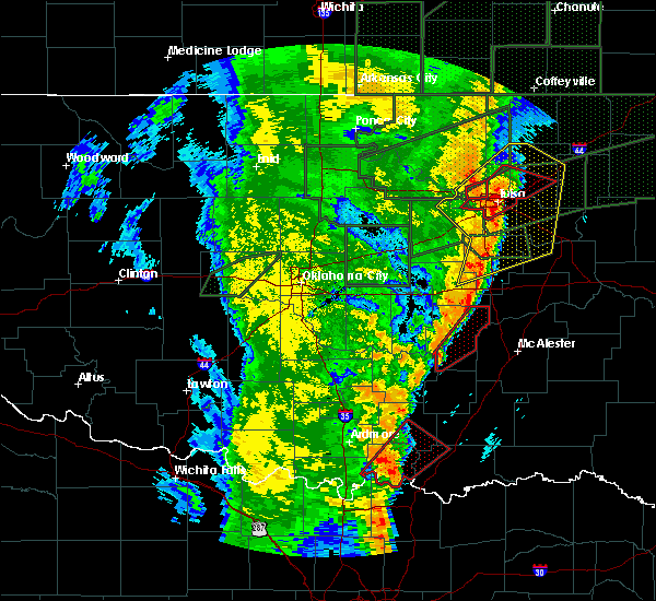 Radar Image for Severe Thunderstorms near Allen, OK at 5/21/2019 6:25 AM CDT