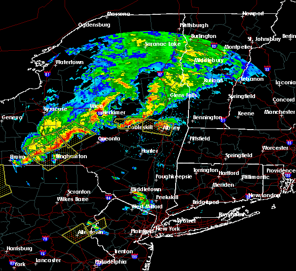 Radar Image for Severe Thunderstorms near Cohoes, NY at 6/12/2015 7:47 PM EDT