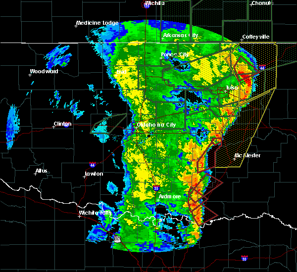 Radar Image for Severe Thunderstorms near Caddo, OK at 5/21/2019 7:08 AM CDT