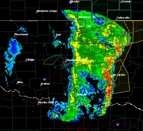 Radar Image for Severe Thunderstorms near Pittsburg, OK at 5/21/2019 7:59 AM CDT