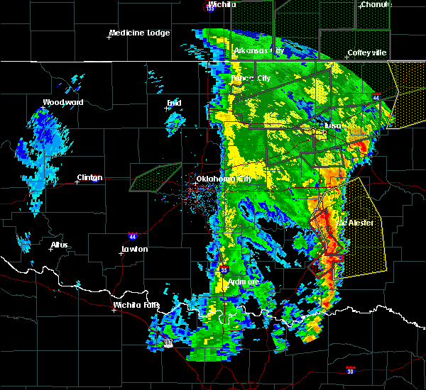 Radar Image for Severe Thunderstorms near Pittsburg, OK at 5/21/2019 8:09 AM CDT