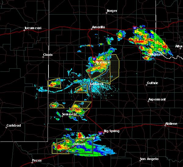 Radar Image for Severe Thunderstorms near Denver City, TX at 6/12/2015 6:51 PM CDT