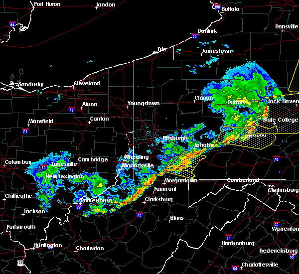 Radar Image for Severe Thunderstorms near Ursina, PA at 6/12/2015 7:55 PM EDT