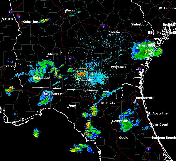 Radar Image for Severe Thunderstorms near Nashville, GA at 6/12/2015 7:57 PM EDT
