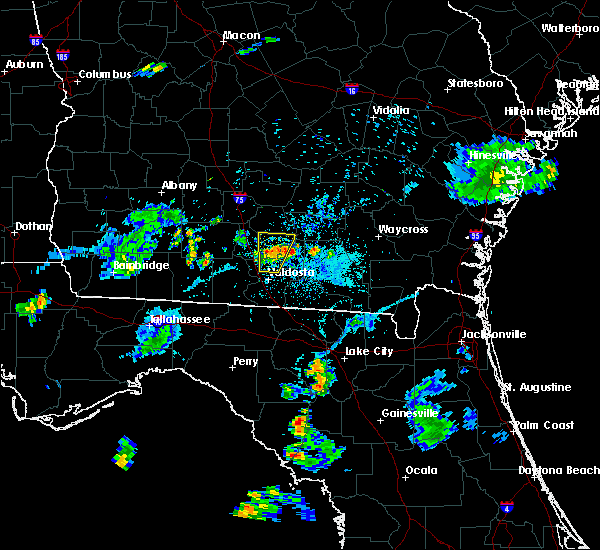 Radar Image for Severe Thunderstorms near Nashville, GA at 6/12/2015 8:01 PM EDT