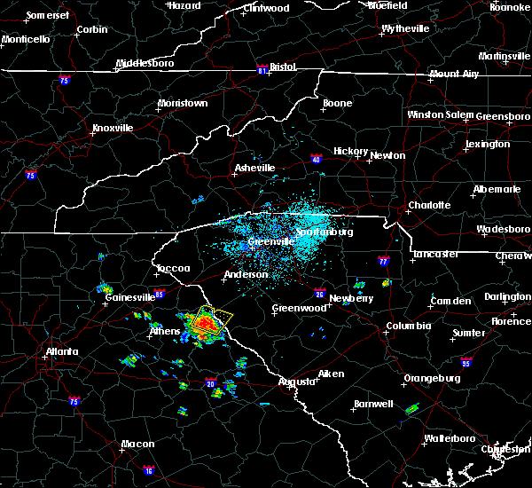 Radar Image for Severe Thunderstorms near Lowndesville, SC at 5/22/2019 5:14 PM EDT