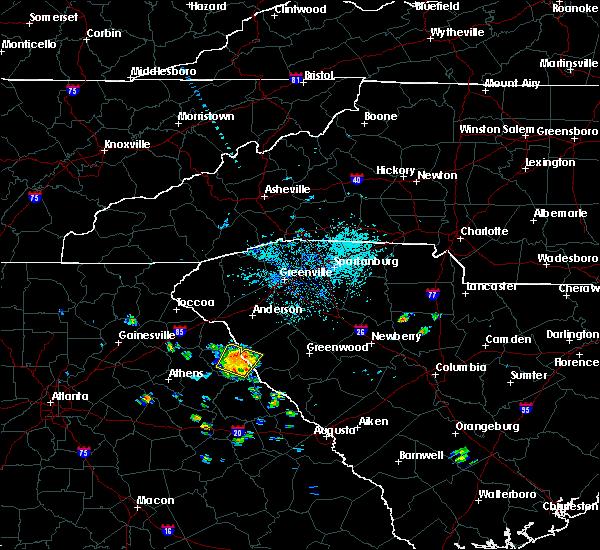Radar Image for Severe Thunderstorms near Lowndesville, SC at 5/22/2019 5:39 PM EDT