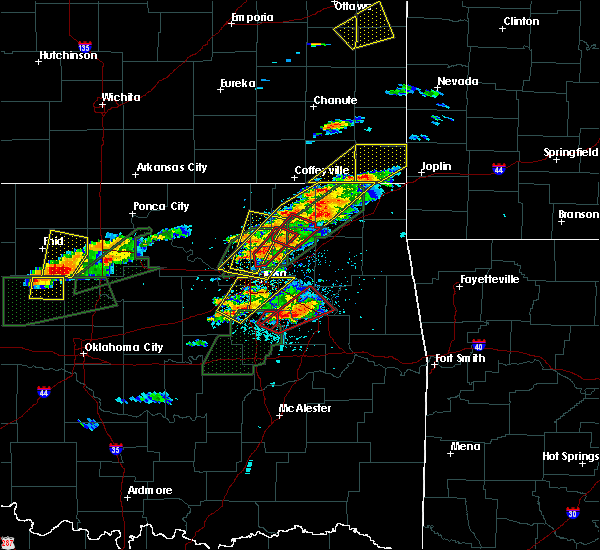 Radar Image for Severe Thunderstorms near Skiatook, OK at 5/22/2019 6:34 PM CDT