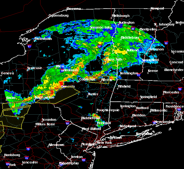 Radar Image for Severe Thunderstorms near Niskayuna, NY at 6/12/2015 8:20 PM EDT