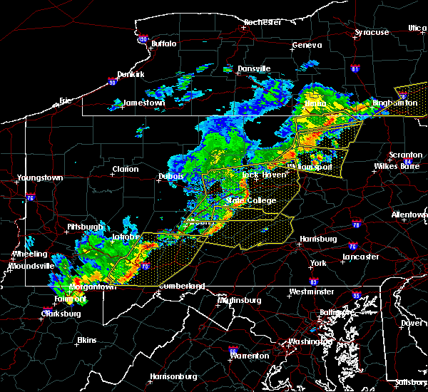 Radar Image for Severe Thunderstorms near State College, PA at 6/12/2015 8:23 PM EDT