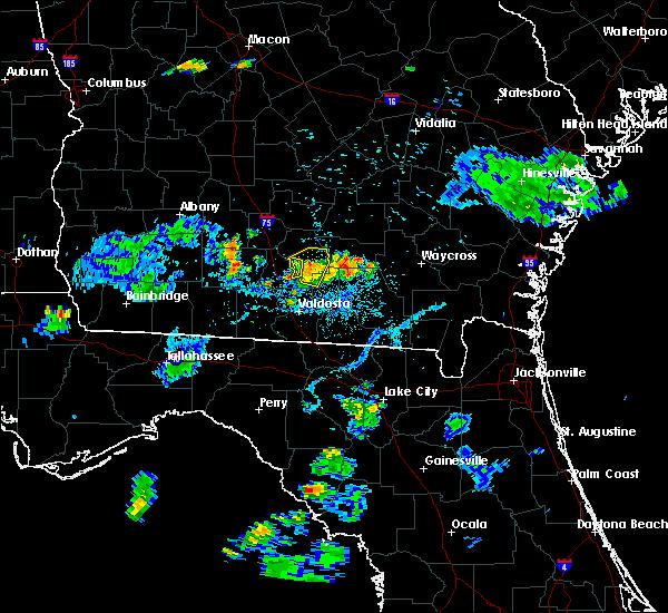 Radar Image for Severe Thunderstorms near Nashville, GA at 6/12/2015 8:32 PM EDT