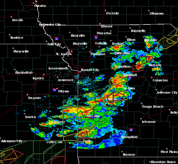 Radar Image for Severe Thunderstorms near Clark, MO at 5/22/2019 8:18 PM CDT