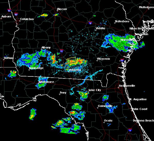 Radar Image for Severe Thunderstorms near Nashville, GA at 6/12/2015 8:36 PM EDT