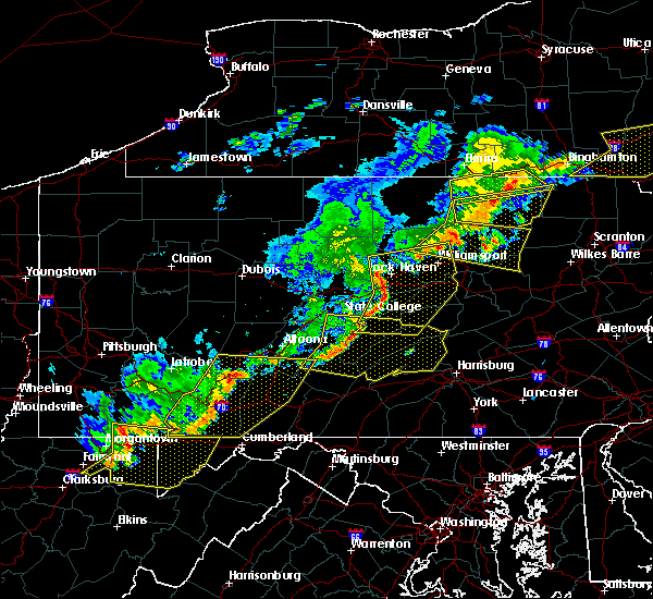 Radar Image for Severe Thunderstorms near Longfellow, PA at 6/12/2015 8:36 PM EDT