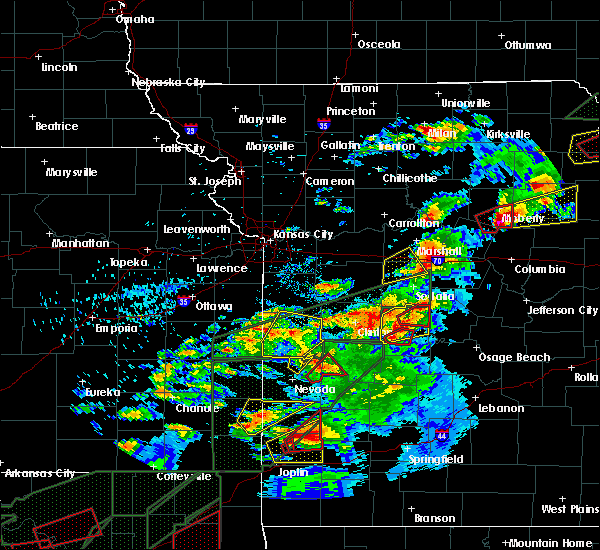 Radar Image for Severe Thunderstorms near Wooldridge, MO at 5/22/2019 8:43 PM CDT